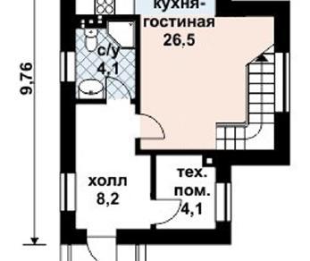 Проект дома AS-2049, 78 м2