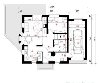 Проект  Дом в рододендронах 4, 123.4 м2