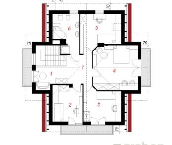 Проект  Дом в фиалках, 165.1 м2
