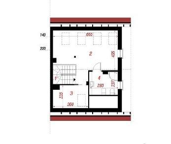 Проект  Дом в тамарилло (Б), 131.4 м2