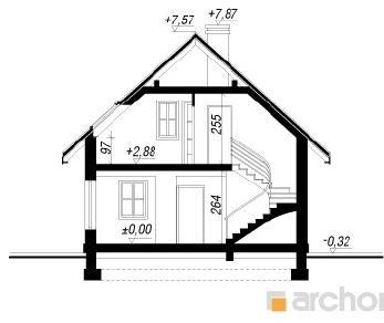 Проект  Дом в рододендронах 11, 87 м2