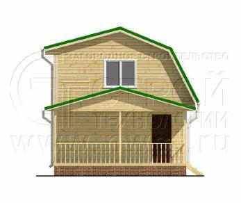 Проект дома Проект дома №56, 54 м2