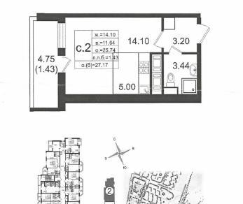 Продажа квартиры Мурино, д.11