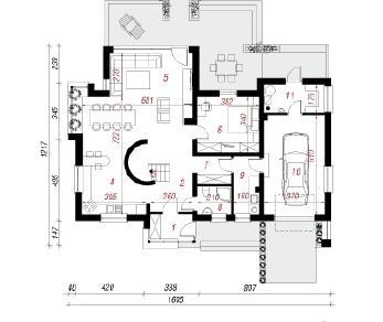 Проект  Дом в портулаках, 114.2 м2
