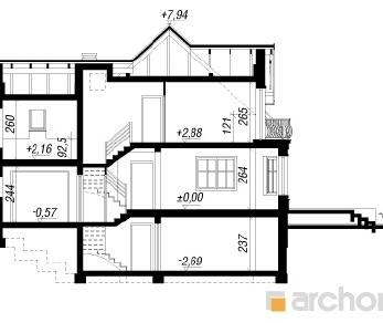 Проект  Дом в тамарисках 3 (П), 229.5 м2