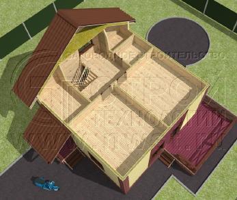 Проект дома Проект дома №122, 57.8 м2