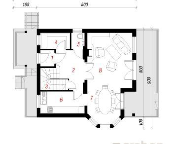 Проект  Дом под буками, 131.8 м2