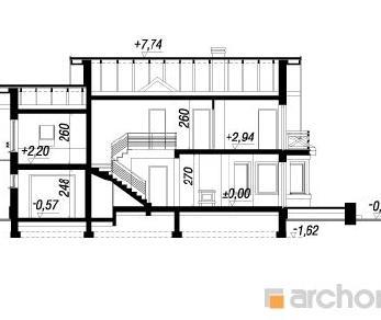 Проект  Дом в сверции, 192.2 м2