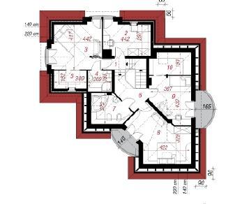 Проект  Дом в бересклете, 175.3 м2
