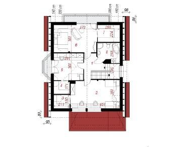 Проект  Дом в очанке, 178.2 м2