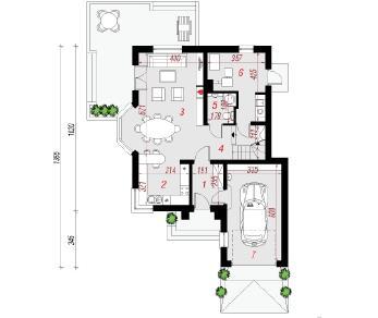 Проект  Дом в рукколе (Н), 130.7 м2