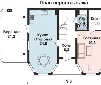 Проект дома AS-2192-2, 111 м2