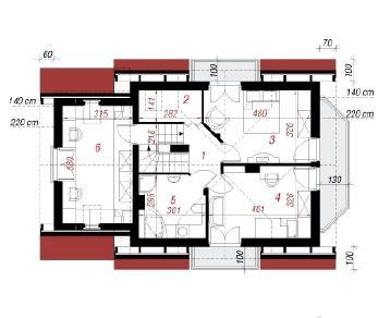 Проект  Дом в перловнике, 121 м2