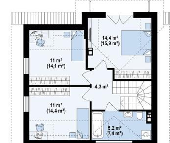 Проект дома Проект z163, 109.4 м2