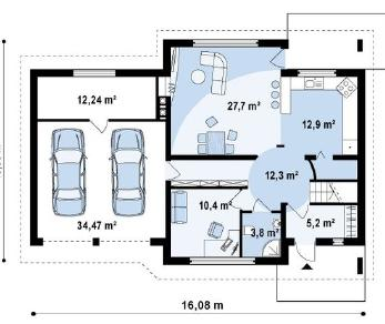 Проект дома Проект z68gl2, 230 м2