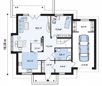 Проект дома Проект Z108, 217.8 м2