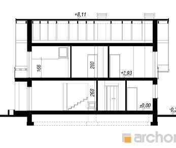 Проект  Дом в сабельнике (Н), 128.1 м2