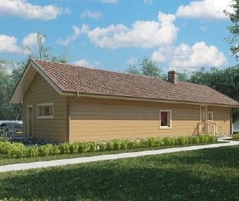 Проект дома AS-2064, 104 м2