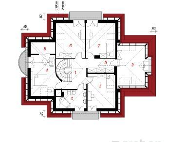 Проект  Дом под кленами, 219.6 м2