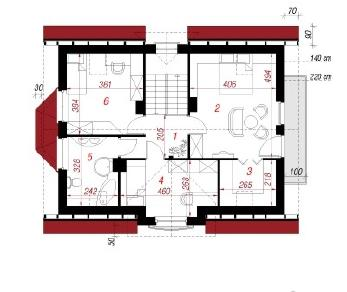 Проект  Дом в кориандре, 121.9 м2
