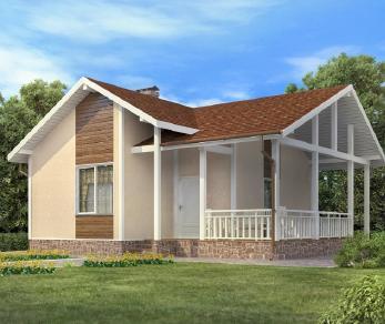 Проект  Баня, 62 м2