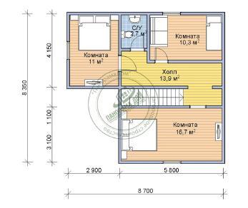 Проект дома Малахит, 120 м2