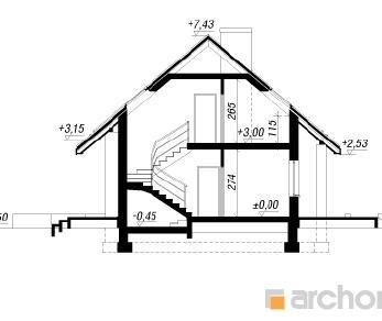 Проект  Дом в лапчатке, 152.5 м2