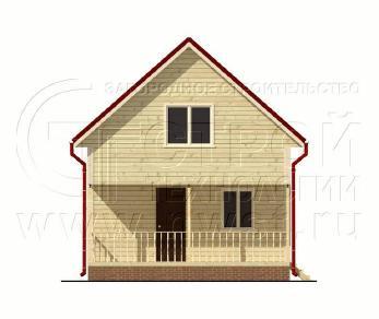 Проект дома Проект дома №61, 48 м2