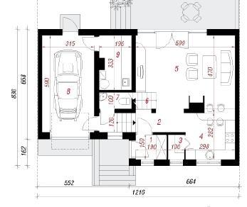 Проект  Дом в мирте, 145.6 м2