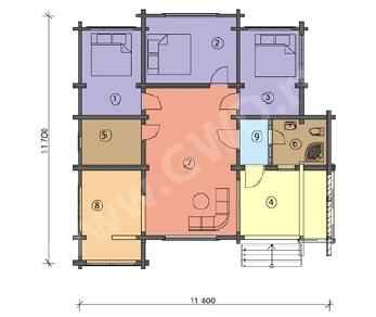 Проект  Дом под отделку, 117 м2