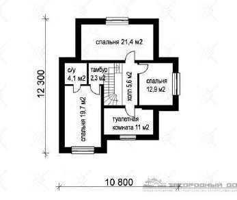 Проект дома Подлипки, 157 м2