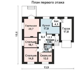 Проект дома AS-2174, 111 м2