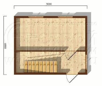 Проект дома Дачный дом 4х5 м (базовая комплектация), 20 м2