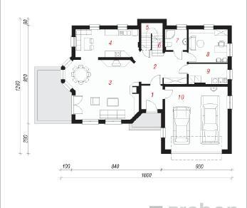 Проект  Дом во флоксах, 226.7 м2