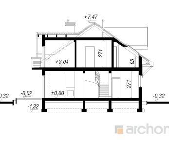 Проект  Дом в цикламенах, 129.8 м2