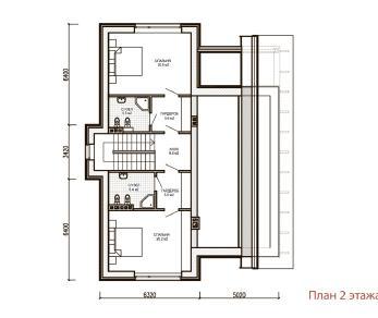 Проект дома Дом в минималистическом стиле, 193 м2