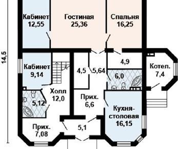 Проект дома AS-2112, 295 м2