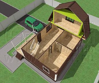 Проект дома Проект дома №96, 57 м2