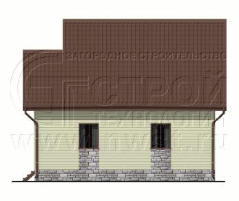 Проект дома Проект дома №129, 65 м2