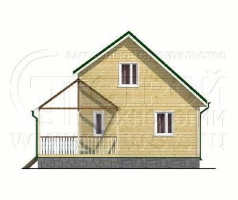 Проект дома Проект дома №108, 46.5 м2