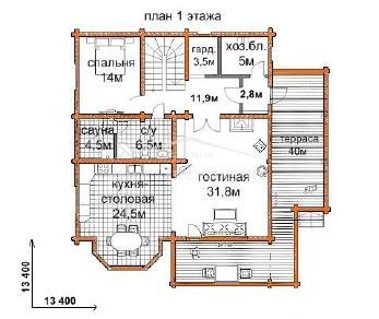 Проект дома Проект ДН-272, 225.5 м2
