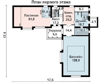Проект бани AS-2251, 420 м2