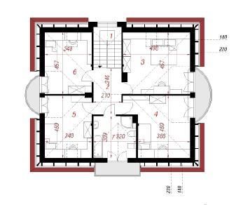 Проект  Дом под явором 2, 164.6 м2
