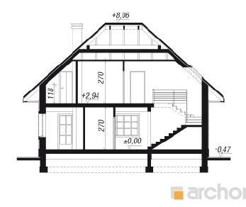 Проект  Дом под папайей, 127.3 м2