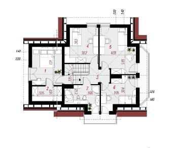 Проект  Дом под горной сосной (П), 205.1 м2