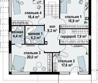 Проект дома Проект zx7, 205.9 м2