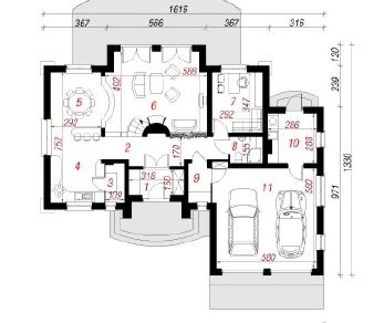 Проект  Дом в орликах 2, 213.3 м2