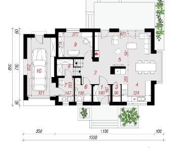 Проект  Дом в вербене (Н), 167.8 м2