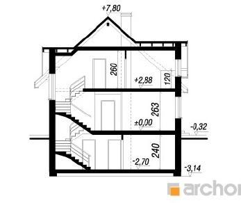 Проект  Дом в горошке 4, 221.1 м2