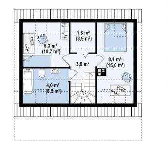 Проект дома Проект Z39, 84 м2